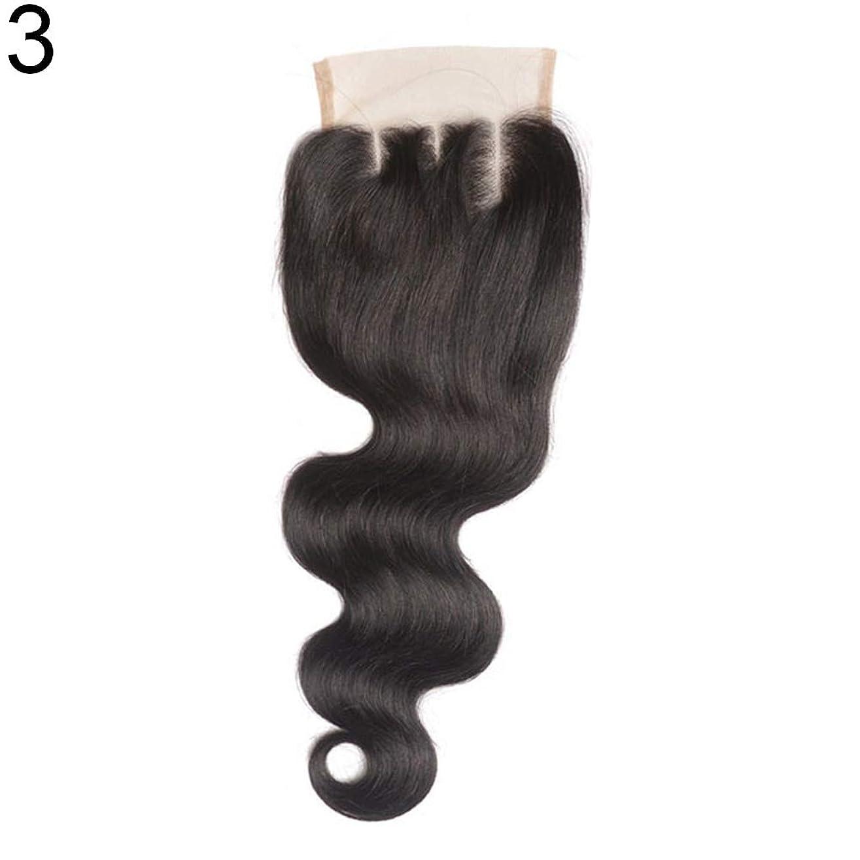 ペンフレンドピカリング通訳slQinjiansav女性ウィッグ修理ツールブラジルのミドル/フリー/3部人間の髪のレース閉鎖ウィッグ黒ヘアピース