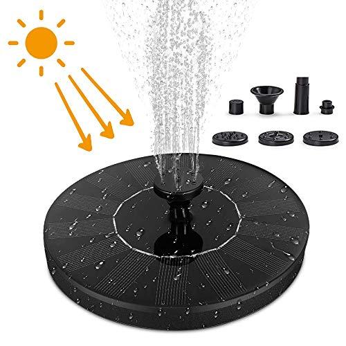 HOOMAGIC Solar Springbrunnen 2020 Upgrade Solar Teichpumpe Solar Garten Wasserpumpe Schwimmender Fontäne Pumpe für Garten, Vogel-Bad, Teich, Außen, Fisch-Behälter