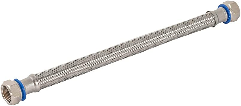 Silver 24 Length Eastman 0437524 Stainless Steel Corrugated Water Heater Connector 3//4 FIP x 1 FIP