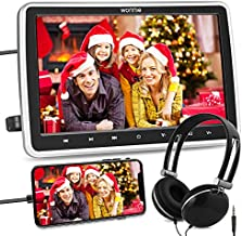 WONNIE 10.5'' Car DVD Player with Headrest Mount, HDMI Input, 1080P Video Support, Headphone, AV in / Out, USB /SD, Regions Free, Last Memory