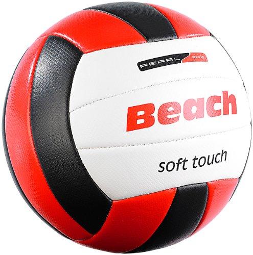 Speeron Volleyball: Beachvolleyball, griffige Soft-Touch-Oberfläche, Kunstleder, 20,5 cm Ø (Bälle)
