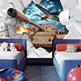 Tapeten Fototapete Benutzerdefinierte Foto Tapete 3D Panzer Flugzeuge Militär Themed Wallpaper Kreative Poster Schlafzimmer Für Wohnzimmer Sofa Tv Hintergrund Schlafzimmer Wand Dekoration...