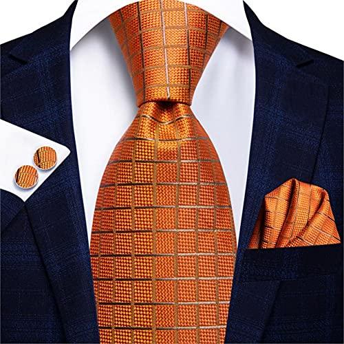 WEDFGX Hi-Tie 150Cm Corbatas de Coral para Hombre Corbata de