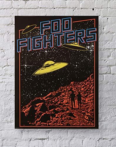 MeiMeiZ Foo Fighters Poster Standard Size | 18-Inches by 24-Inches | Foo Fighters Posters Wall Poster Print