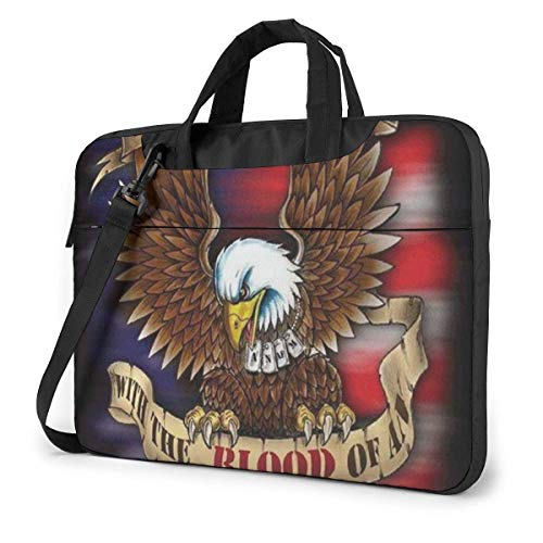 Portable Laptop Bag Sleeve Briefcase U.S. Navy American Soldier Laptop Sleeve Case 15.6 Inch Computer Tote Bag Shoulder Messenger Briefcase