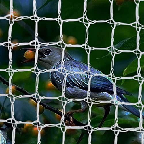 CUIS Bird Netting for Trees, Reusable White Anti Birds Animals Garden Net Plant Protection Square Mesh for Blueberry Poultry Vegetables Fruit Trees (33ft×33ft)