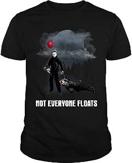 Men's Michael Myers Shirt Not Everyone Floats Cool T-Shirt Fashion Tee