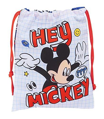 Safta Saquito Merienda Lunch Bag de Mickey Clubhouse, 200x250mm, Mickey Mouse
