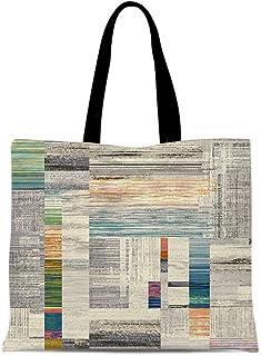 ACYOUNG Damen Schultertaschen Große Doppelseitige Stofftaschen Mosaik Muster Stylische Geräumige Einkaufstaschen