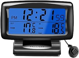 Ggdoo Temperatura del Agua Medidor Medidor Digital term/ómetro higr/ómetro Digital de la Temperatura de la sonda LCD con 5m Impermeable para veh/ículo Fish Tank