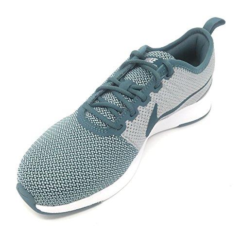 Nike DUALTONE Racer Jugendliche Unisex niedriges Top Turnschuhe - EIS Jade/Wolf Grey-Igloo, 38