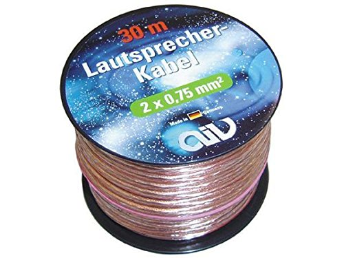 AIV 960253 Lautsprecher-Kabel - Mini-Spule - 30 m - 2X 0,75 mm²