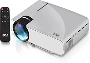 Pyle Portable Multimedia Home Theater Projector - Compact HD 1080p High Lumen LED USB HDMI Adjustable 50