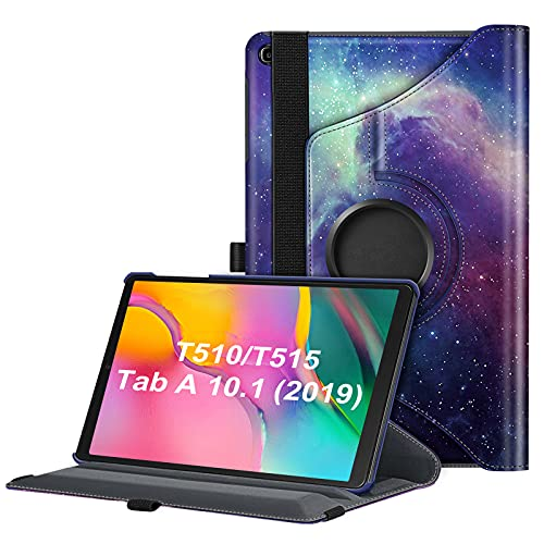 Fintie Hülle für Samsung Galaxy Tab A 10.1 T510/T515 2019, 360 Grad verstellbare Schutzhülle Cover Hülle Tasche mit Standfunktion für Galaxy Tab A 10,1 Zoll 2019 Tablet-PC, Die Galaxie