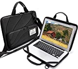 BUG Laptop Case Compatible with 13-14 Inch Macbook Pro Air Chromebook Surface Pro HP Dell Lenovo Work-in Notebook Computer Hard Shell Laptop Bag for Men Women with Electronic Pouch and Shoulder Strap