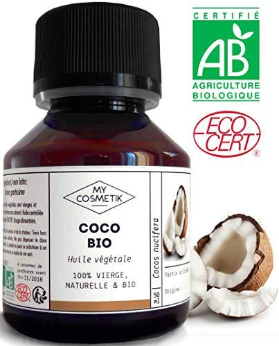 Huile végétale de Coco BIO - MyCosmetik - 50 ml