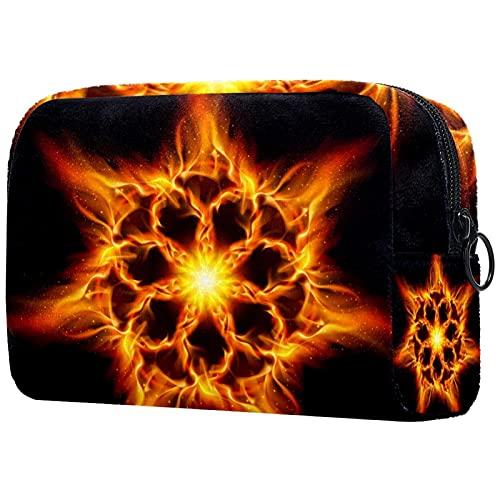 Bolsa de cosméticos de gran capacidad femenina portátil de viaje impermeable bolsa de almacenamiento bolsa de almacenamiento espacio cielo estrellado Galaxy planet