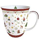 Ambiente - Taza de Navidad (porcelana fina, 0,4 L), color rojo