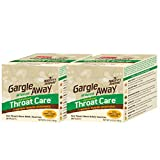 Gargle Away by Nature's Jeannie - Natural Sore Throat Remedy, Vocal Care, Mucus Relief, Cough Suppressant for Kids and Adults (40 Packets)