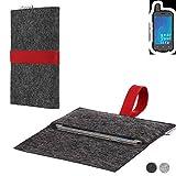 flat.design Handy Hülle Aveiro für Ruggear RG720 passgenaue Filz Tasche Case Sleeve Made in Germany