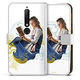 Étui Compatible avec Nokia 6.1 Étui Folio Étui magnétique La Belle et la Bête Produit sous...