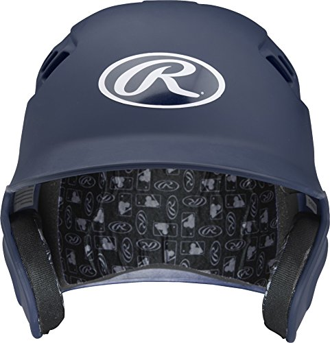 Rawlings Velo Series Alpha Sized Batting Helmet, Matte Navy, Medium