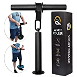 Q Pro Forearm Workout Equipment - Wrist Roller - Forearm Exerciser - Forearm Strengthener - Forearm Trainer - Forearm Blaster - Forearm Roller Weight - Wrist Forearm Developer - Forearm Workout Tool