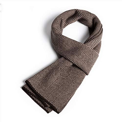 Moda Bufanda Chal Otoño e Invierno Hombres bufanda de la cachemira de lujo caliente del regalo de la tela escocesa de caja de rayas bufanda de la cachemira Bufanda acogedora ( Color : H )