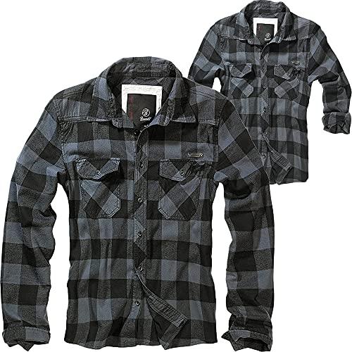Brandit Check Shirt Herren Baumwoll Hemd 3XL Black-grey