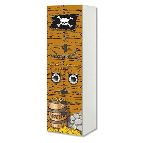 STIKKIPIX Piraten Möbelfolie   SC3K13   passend für die Kinderzimmer Aufbewahrungskombination STUVA von IKEA   Klebe-Folie passgenau für Schrank und Kommode mit 3 Fächern   Möbel Nicht Inklusive