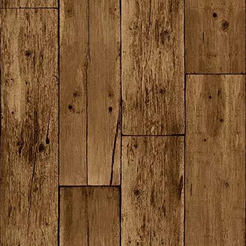 shiyueNB Chinese retro houtnerf behang oude houtnerf patroon thee studie speciaalzaak achtergrond muur kledingwinkel behang 53 cm x 10 m 53cmx1000cm A