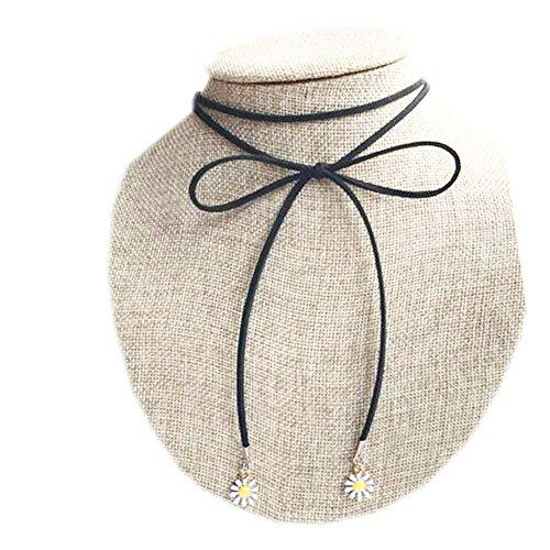Cordes de cou noir de mode Beau Collier