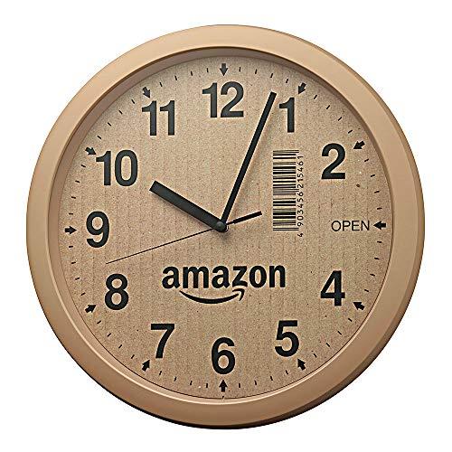 【Amazon.co.jp限定】リズム時計 段ボール風掛け時計 4KG712CZ06