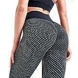 RAINBEAN TIK Tok Leggings for Women, High Waist Tummy Control Anti Cellulite Leggings Butt Lifting Yoga Pants (Dark Grey, XXL)