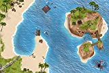 Piraten Spielmatte (ähnlich Spielteppich) | SM06 | Hochwertige Spiel-Matte für das Kinder-Zimmer | ideales Zubehör zu Spiel-Figuren von Schleich, Playmobil, Papo, Bullyland & Co | 150 x 100 cm | STIKKIPIX
