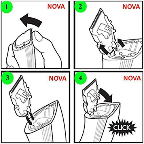 Nova NHT 1046 Rechargeable Cordless: 30 Minutes Runtime Beard Trimmer for Men (White)