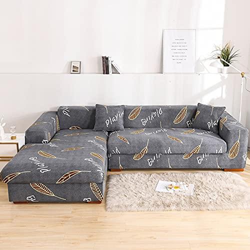 MKQB Funda de sofá con combinación de Esquina en Forma de L, Funda de sofá Antideslizante para la decoración del hogar, Sala de Estar, Funda de sofá de protección para Mascotas NO.6 S (90-140cm