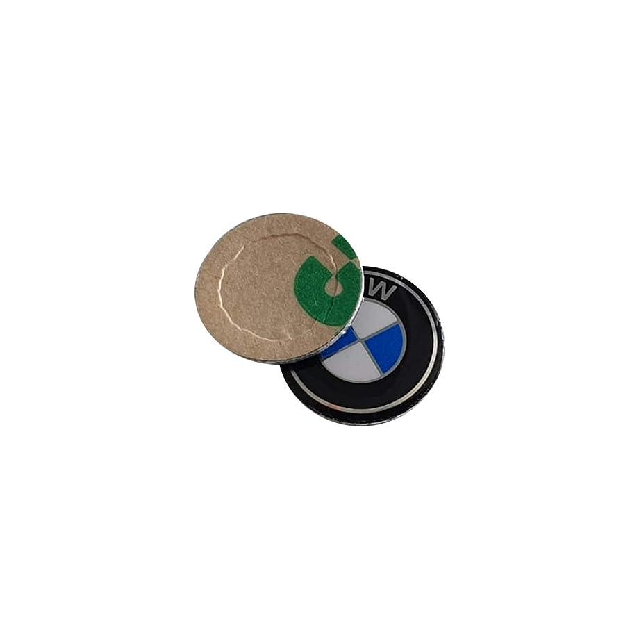 Bross BDP532 2 Pieces Key Fob Remote Badge Logo Emblem Sticker Dia:11mm for BMW