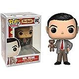 Funko Mr. Bean: Mr. Bean x POP! TV Vinyl Figure & 1 POP! Compatible PET Plastic Graphical Protector Bundle [#592 / 24495 - B]
