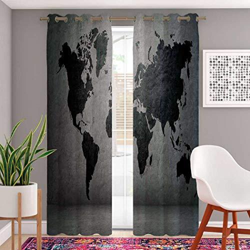 Atomack Dark Blackout Grommet Curtains 84 Inch Length