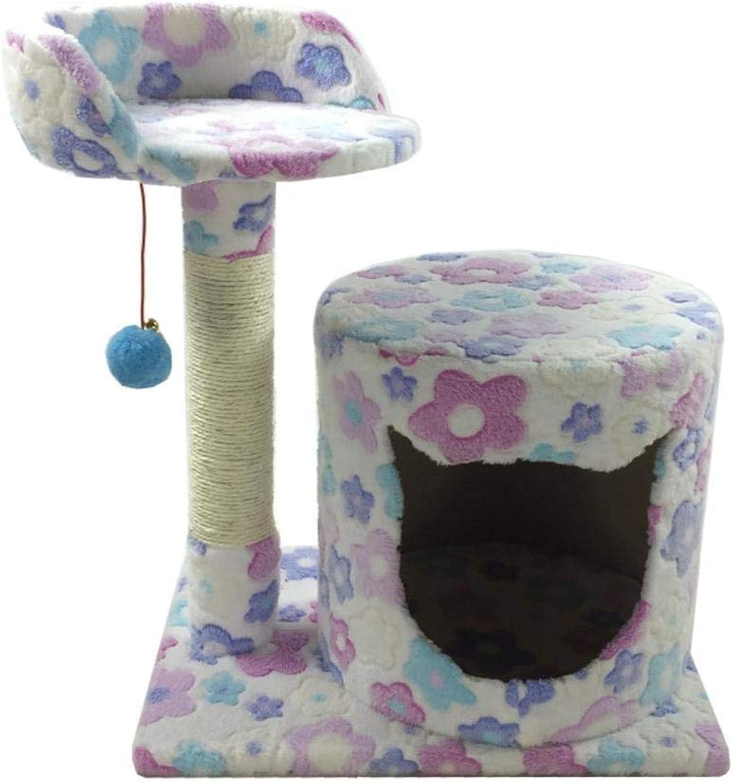 Dixinla Cat climbing frame Pet cat Toy Platform grab column grab board furniture cat Nest bed House plate hemp Flannel 45  34  54cm