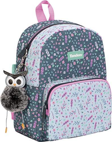 Sportandem Schulrucksack Tandem Trend Tt – Kinder-Rucksack klein – Kindergarten-Rucksack mit Reißverschlussfach aus Metall, leicht zugänglich, Fronttasche – Maße: 23 x 28 x 10 cm
