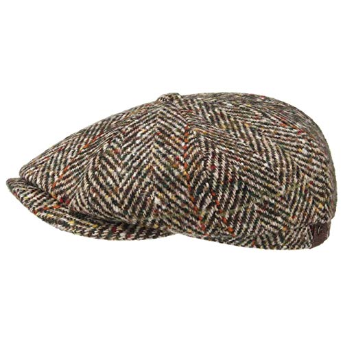 Stetson Gorra Hatteras Herringbone Hombre - Made in The EU Newsboy de...