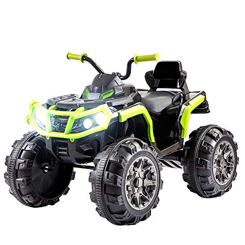 Simply-Me 12V Kids Electric Truck 4-Wheeler ATV Quad Ride On Car,Power Motorized Cars Wheels Ride On Toys w/ MP3 Player,Double Drive Motor,Led Lights