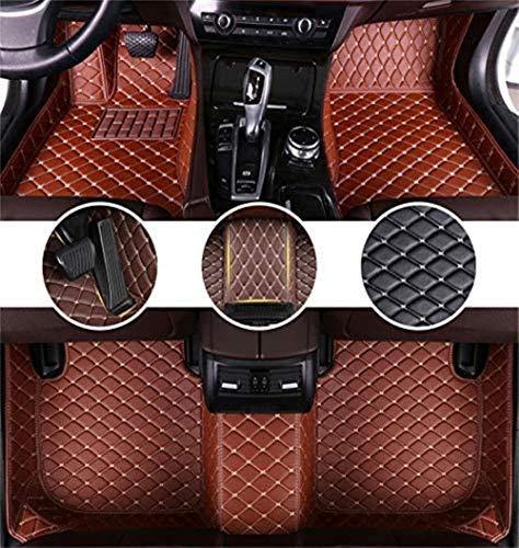 Youthus Alfombrillas De Coche Personalizadas Alfombras De Pie para Toyota Avensis 2003-2009 Cobertura Completa Impermeable Antideslizante Alfombra de Cuero, marrón
