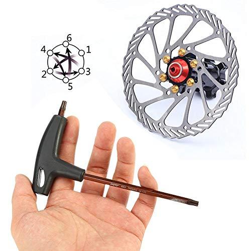 AYNEFY - Llave de mango en T, mango Torx de mango en T, para disco de freno de bicicleta T25, herramienta de reparación para bicicletas