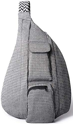 Sling Bag,Rope Shoulder Bag Crossbody Backpack Waterproof Travel for Women (Grey)