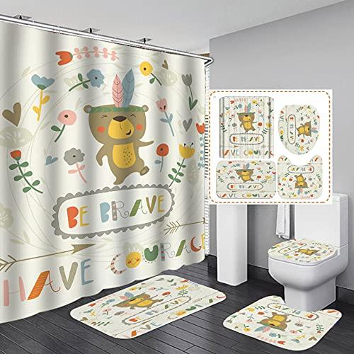BOLO Shower curtain, waterproof,W120CMXL180CM