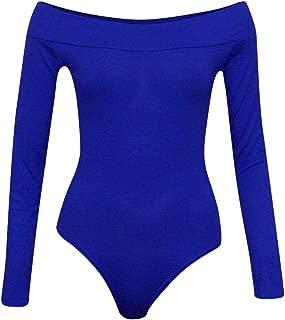Sexy Off Shoulder Bodysuit for Women Long Sleeve Bodycon Bodysuit Leotard Jumpsuits Tops