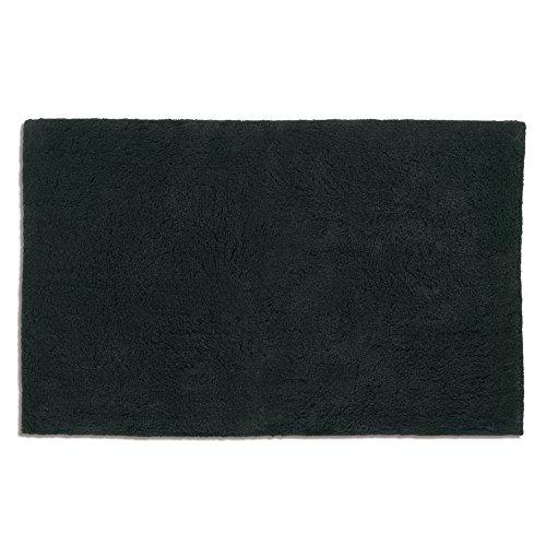 Kela 20439 tapis de bain 100% coton, 120 x 70 cm, 'Ladessa', uni noir
